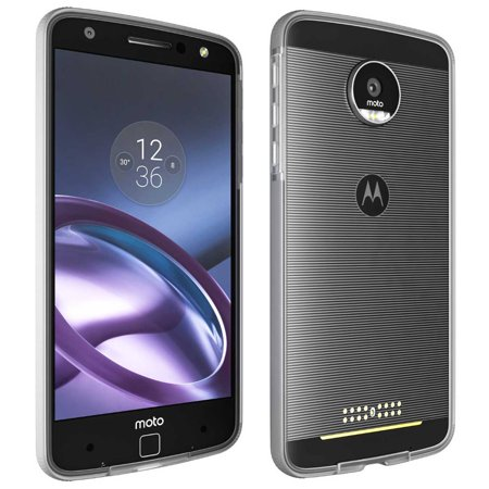 size 40 23dbe f1c55 Moto Z Force Case Bumper by Rome Tech OEM - Motorola Moto Mods Compatible -  Ultra Slim Shell With Protective Shockproof Design Phone Case - Clear