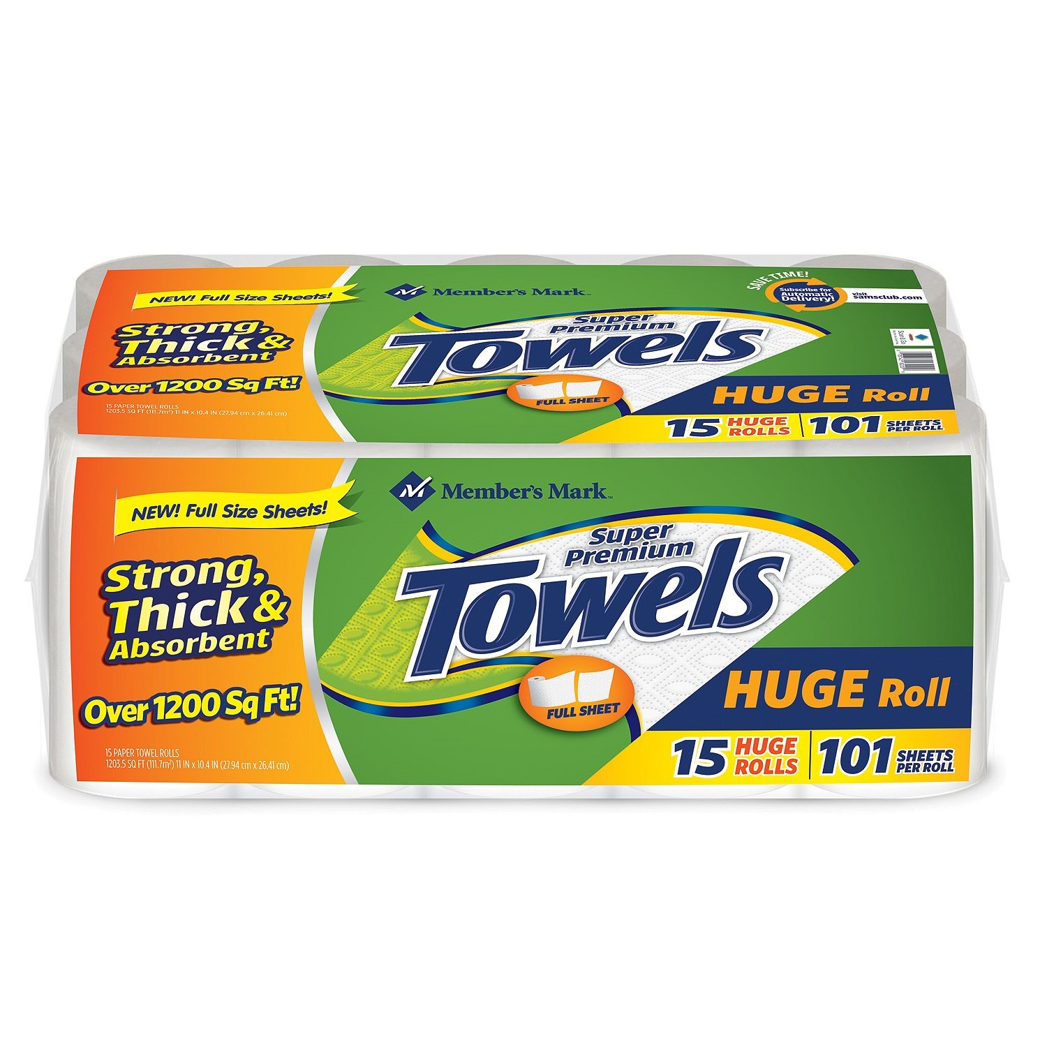Member's Mark Premium Paper Towels, 15 Huge Rolls