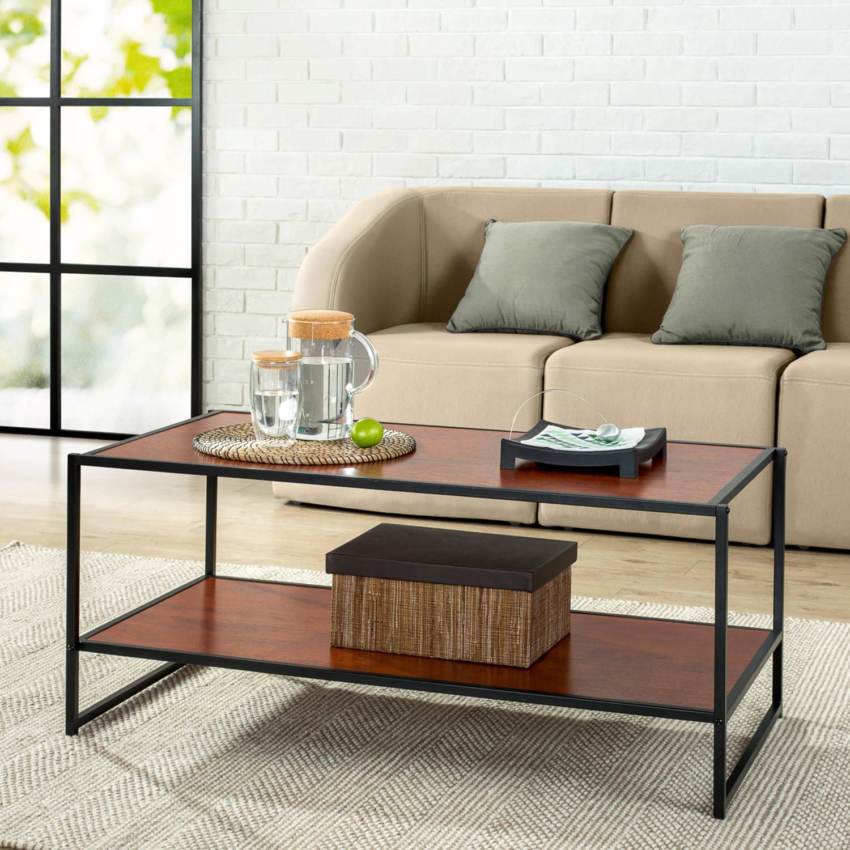modern studio collection deluxe rectangular coffee table - walmart
