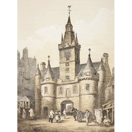 The Netherbow Port Edinburgh Scotland Demolished 1764 From The Scots Worthies According To Howies Second Edition 1781 Published 1879 Canvas Art   Ken Welsh  Design Pics  24 X 34