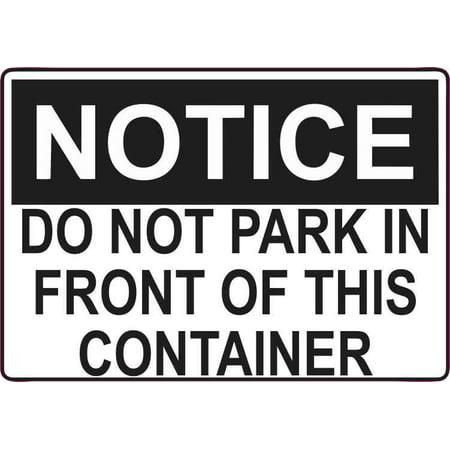 5in x 3.5in Do Not Park Magnet Vinyl Business Door Magnetic Container
