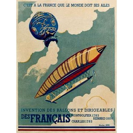 French Aviation Commemorative Posters 1 of 3 Poster Print by  Lucien