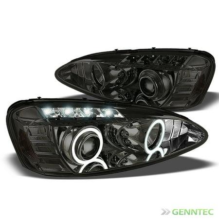 Smoked 2004 2008 Pontiac Grand Prix Halo Led Projector Headlights Smoke Head Lights Pair Left Right 2005 2006 2007