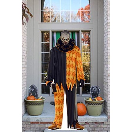 Aahs Engraving Halloween Haunted House Life Size Cardboard Stand Up (Cannibal Clown with Hammer)