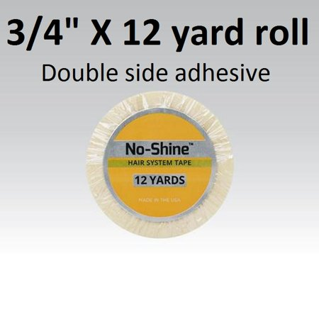 No Shine Tape 3/4th inch X 12 yard roll double side adhesive. By Walker Tape