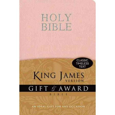 Holy Bible  King James Version Pink Leather Look Gift   Award Bible