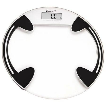 Escali - Precision Body Weight Glass Platform Round Digital Bathroom Scale B180RC Clear