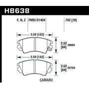 Hawk Camaro V6 Performace Ceramic Street Front Brake Pads