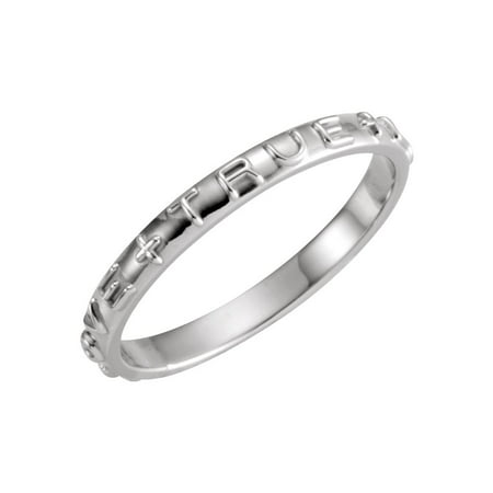 Jewels By Lux 14K White Gold True Love Chastity Ring with Packaging Size 5