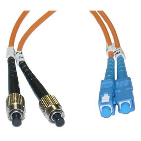 Fc Multimode Duplex Core (FC / SC Multimode Duplex Fiber Optic Cable 62.5/125 3 Meter (10 ft) )