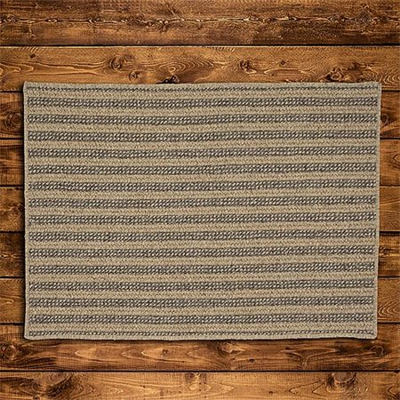 Colonial Mills Rug OL83R036X060S 3 x 5 ft. Woodland All-Natural Vertical Stripe Rectangle Braided Rug  Dark Natural - image 1 de 1