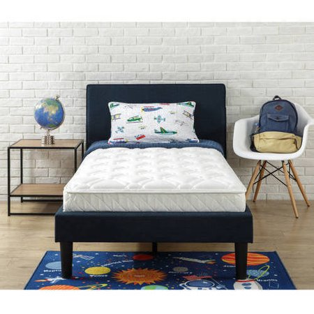 Slumber 1 Youth 6 Inch iCoil Pocket Spring Mattress with Moisture Barrier, Multiple Sizes
