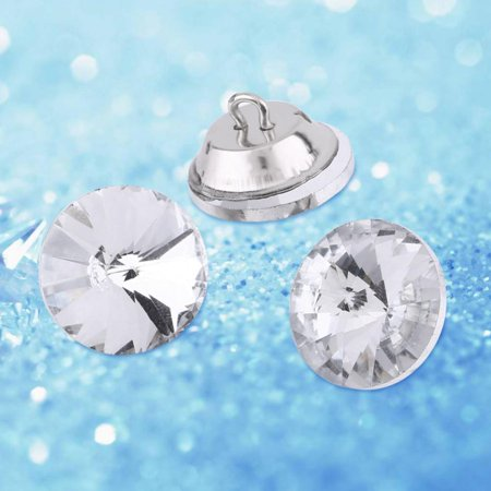 Hilitand 2 Sizes 50pcs Crystal Diamond Effect Sofa Headboard Upholstery Sewing Buttons 25mm or 20mm