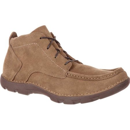 "rocky rkw0186 cruiser 3"" brown suede leather moc toe casual western chukka boot"