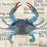 Paperproducts Design Best Crab Beverage Napkins, 5 x 5