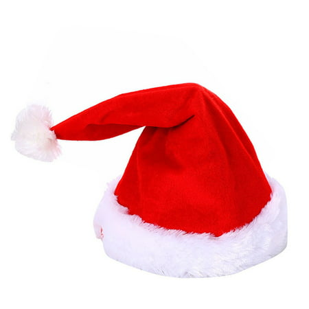 Christmas Hats.Electric Musical Christmas Hat Magic Dancing Singing Plush Xmas Adjustable Santa Claus Hats For Adult Children Soft Plush Caps Gift Funny Toy