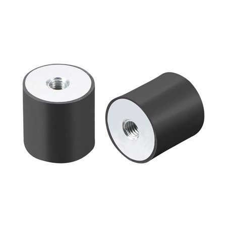 30x30mm Rubber Female M8 Thread Mount Isolator Replace Anti Vibration Pads Flat - image 2 of 3