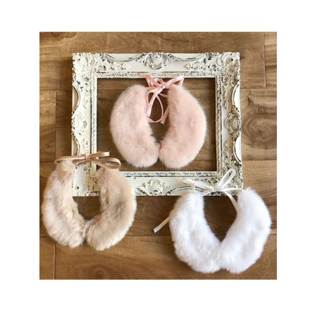 Charmeuse Silk Belt - Girls Multi Silky Lining Charmeuse Closure Faux Fur Collar OS