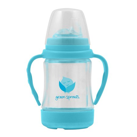 Sip Straw - green sprouts Glass Sip & Straw Cup-Light Aqua-6mo+