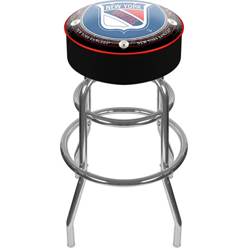 "Trademark Global NHL Throwback New York Rangers 41.75"" Padded Bar Stool"