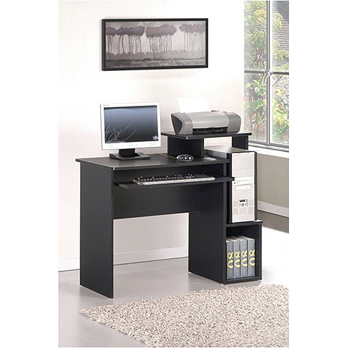 Furinno 12095BK/BR Econ Multipurpose Home Office Computer Writing Desk With  Bin