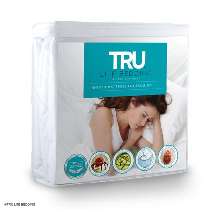 TRU Lite Bed Bug Mattress Cover - 100% Waterproof Zippered Encasement - (California Zippered Mattress)