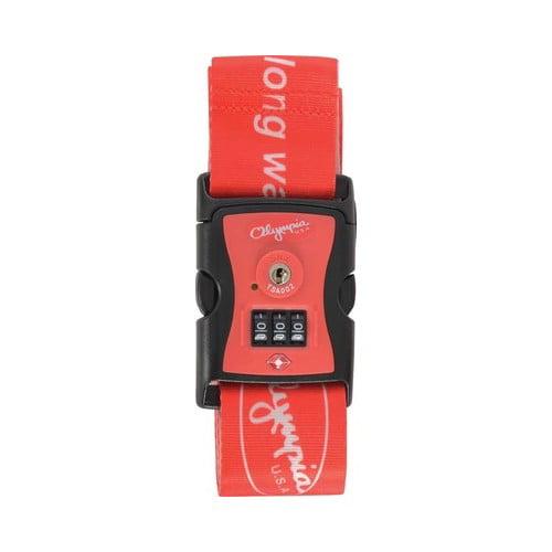 Olympia USA Luggage Strap with TSA Lock Printed Nylon