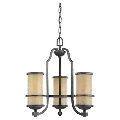 Sea Gull Lighting 31520-845 Chandelier with Creme ParchmentGlass Shades, Flemish Bronze Finish