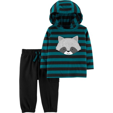 Hooded Long Sleeve T-Shirt & Jogger Pants, 2-Piece Outfit Set (Baby - Baby Minion Outfit