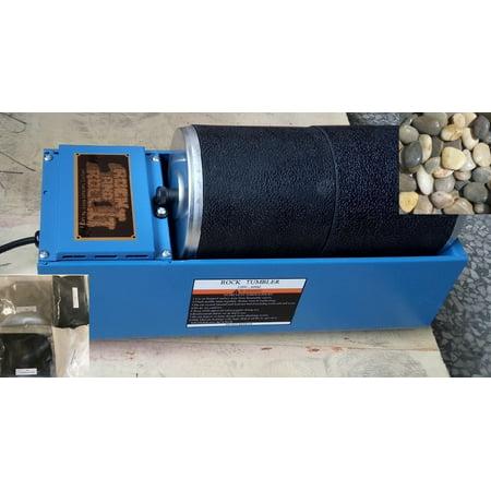 Rock N Roll Dual Rotary Rock Tumbler Lapidary Polisher & Rough Rocks and Media - 6 lb capacity