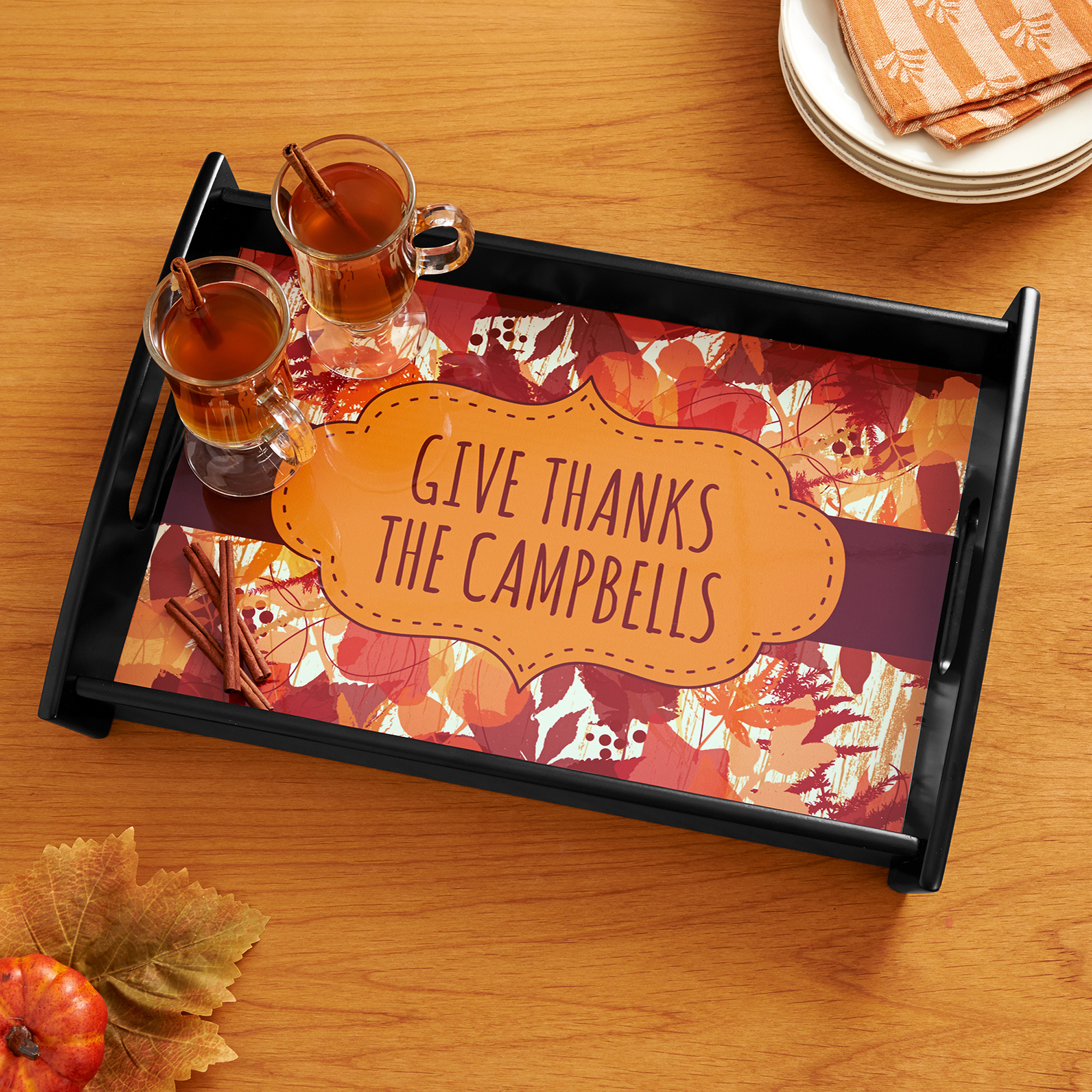 Personalized Give Thanks Serving Tray