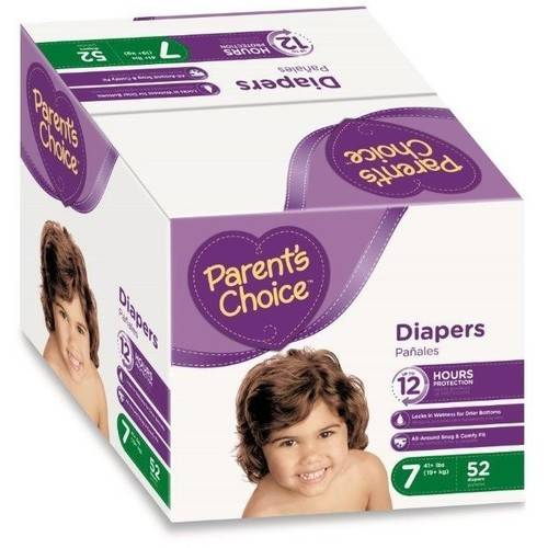 Parent's Choice Diapers, Size 7, 52 Diapers