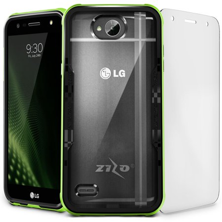 separation shoes 1dc32 8beca Zizo SHOCK 2.0 Series compatible with LG X Charge Case Military Grade Drop  Tested with Tempered Glass Screen Protector X Power 2 LV7