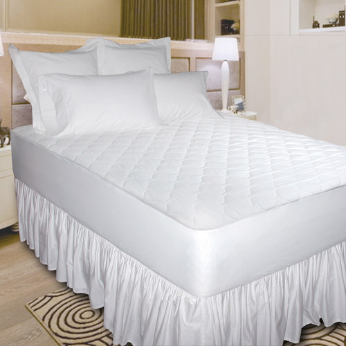 Newpoint Quiet Waterproof Cotton Mattress Pad, White