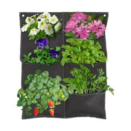 Vertical Garden Balcony Planter - Brown, Pocket of 6