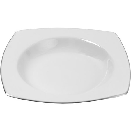 Stainless Steel Rimmed Soup Plate (10 Strawberry Street Lotus Silver Line 9