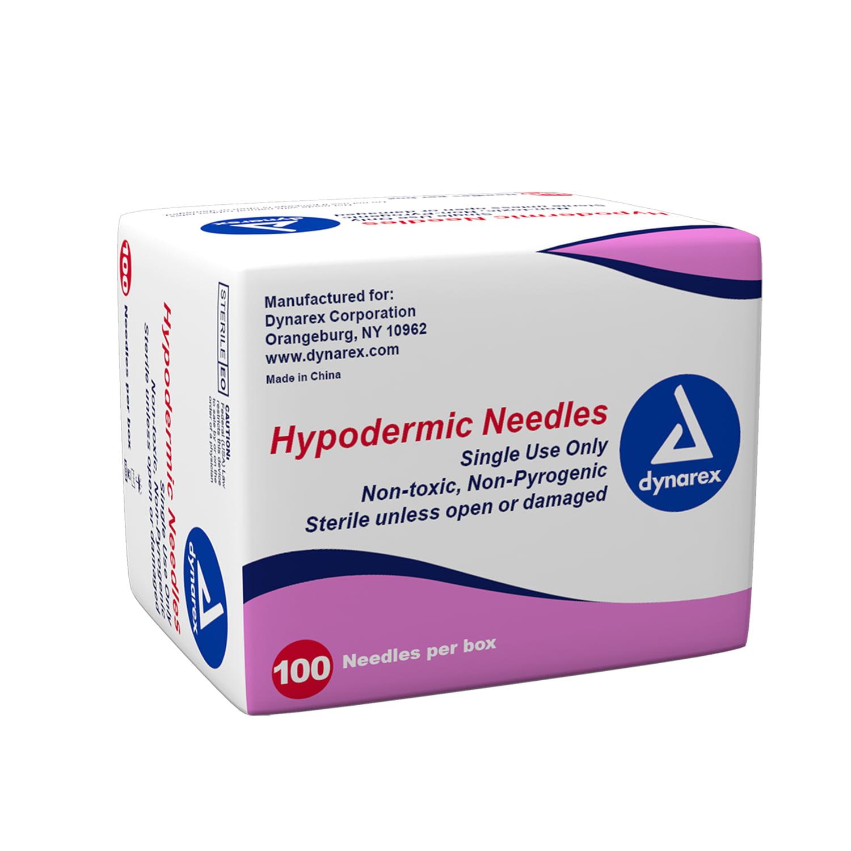 """Dynarex Hypodermic Needle 21G, 1 1/2 """" needle 1 Case"""