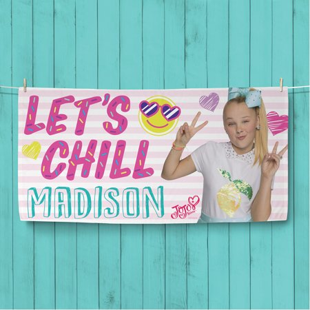 JoJo Siwa Let s Chill Personalized Beach Towel - Walmart.com 19daa280b