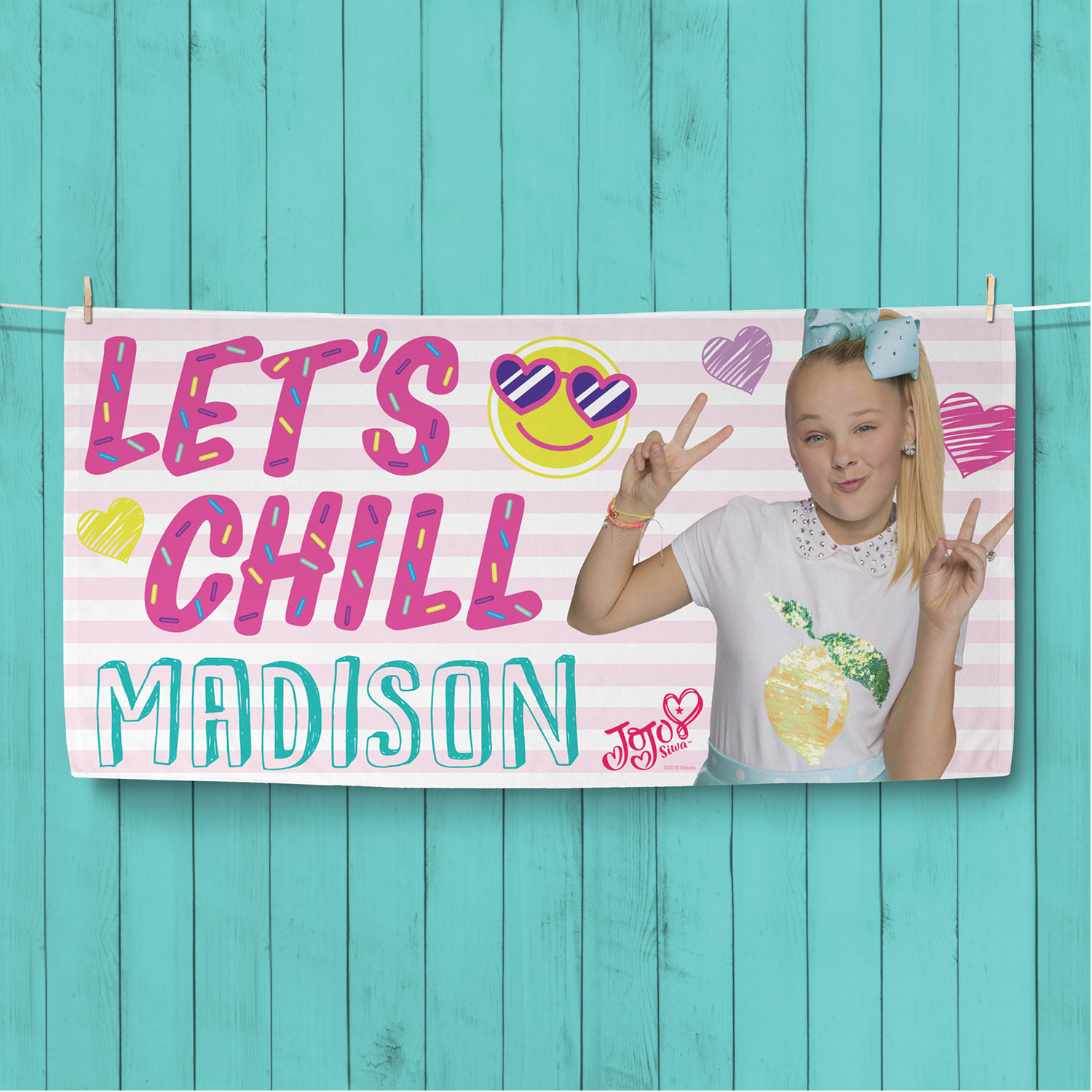 JoJo Siwa Let's Chill Personalized Beach Towel