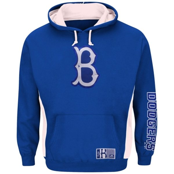 "Brooklyn Dodgers Majestic MLB ""Stadium"" Cooperstown Hooded Sweatshirt"