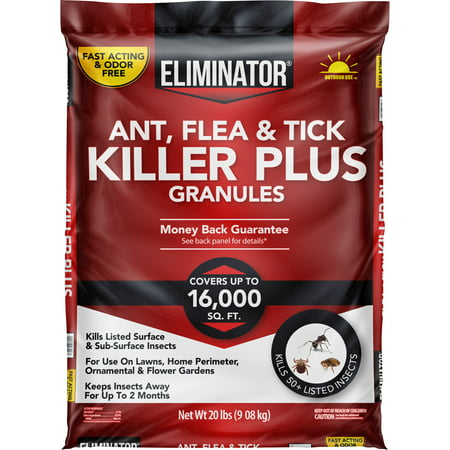 Walmart Grocery Eliminator Ant Flea Tick Killer Plus Granules With 2 Month Protection 20lb Covers Up To 16 000 Sq Ft