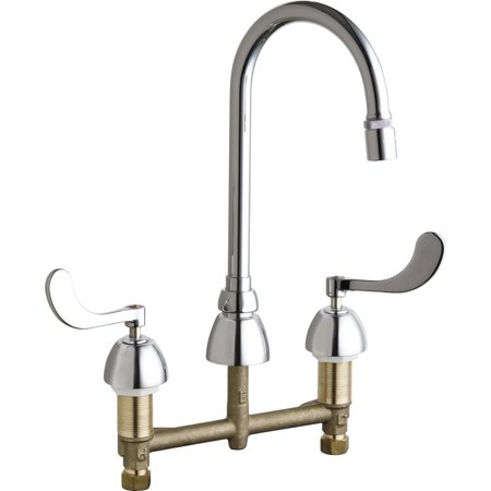 Chicago Faucets 786-E29AB Commercial Grade High Arch Kitchen Faucet with Wrist Blade (Commercial Wrist Blade Handle)