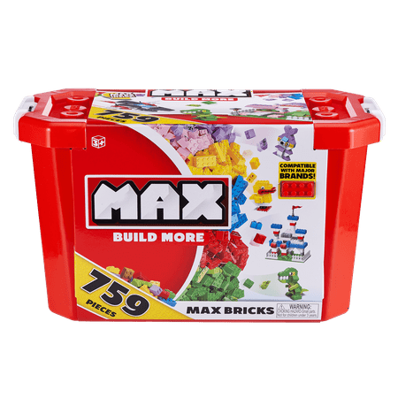MAX Build More Building Bricks Value Set (759 Bricks) - Major Brick Brands Compatible