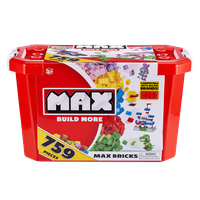 Deals on MAX Build More Building Bricks Value Set 759 Bricks