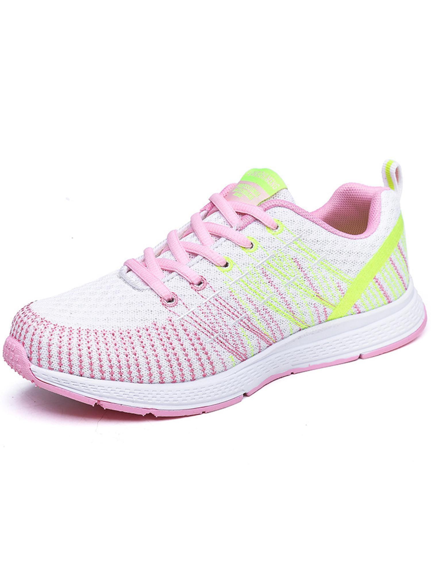 Women Round Toe Casual Running Shoes PU