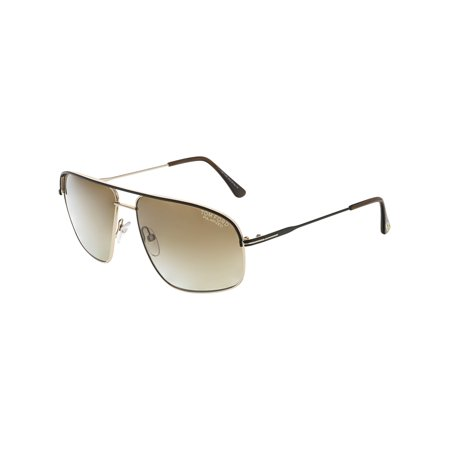 28d94c55c1 Tom Ford - Tom Ford Men s Polarized Justin FT0467-50H-60 Brown Rectangle  Sunglasses - Walmart.com