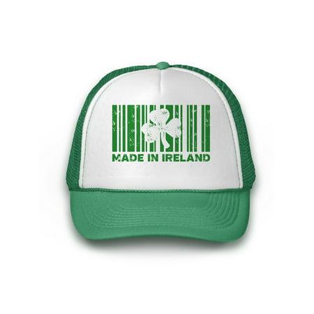 Awkward Styles St Patrick's Hat Ireland Irish Green Shamrock Clover Leaf Caps for Women Men Unisex St Patty Gifts St Patrick Accessories Irish Party Irish Trucker Hat