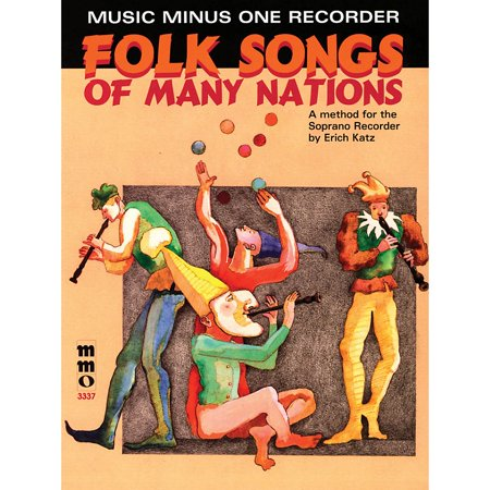 Music Minus One Folk Songs of Many Nations (Music Minus One Recorder) Music Minus One Series Softcover with CD - Halloween Theme Song On Recorder