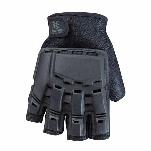 Empire BT Glove: Hard Back Fingerless, Black
