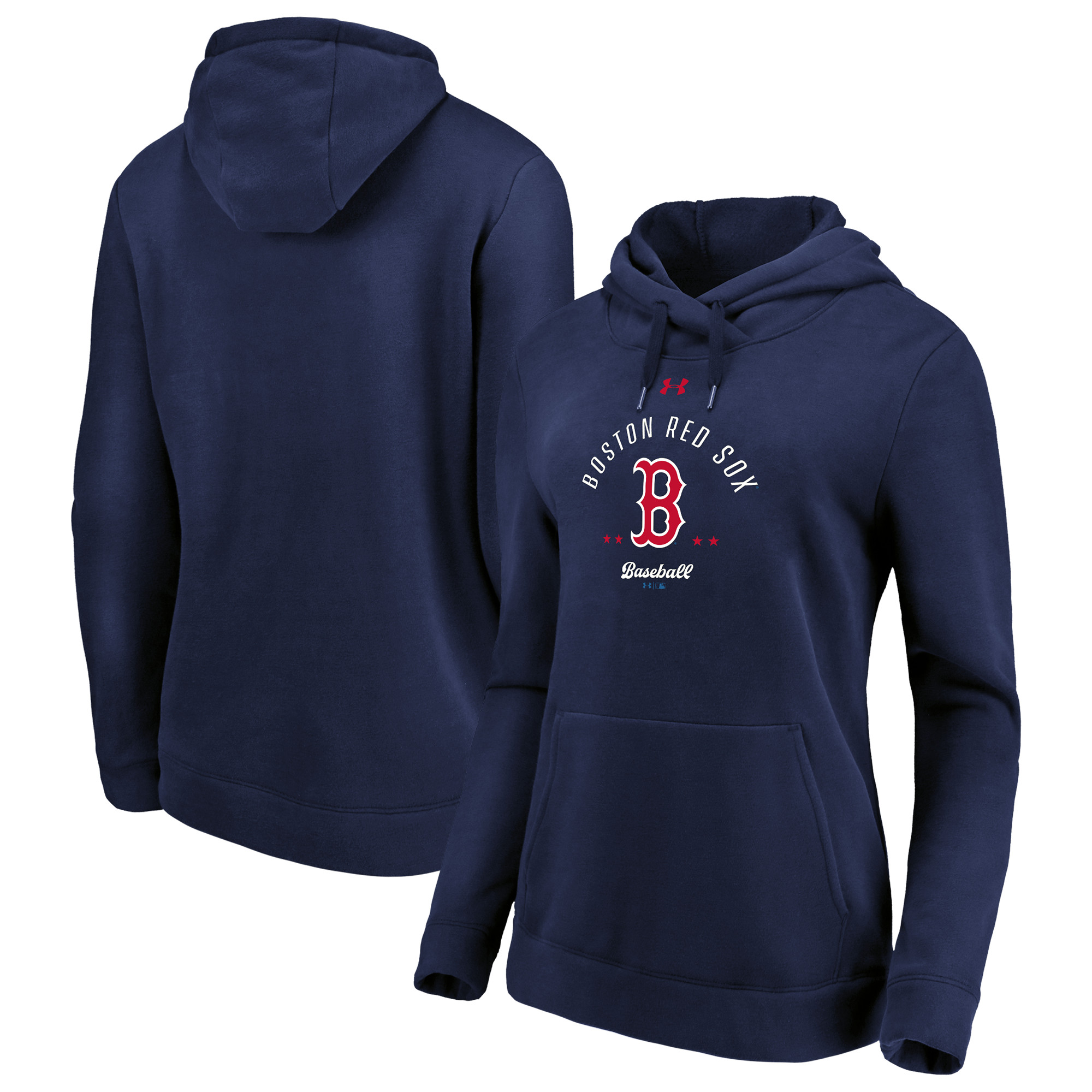 Boston Red Sox Under Armour Women's Unassisted Triple Play Lightweight Fleece Pullover Sweatshirt - Navy